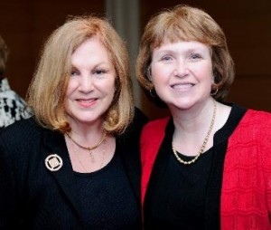 PWFI Founder Linda Wind and Scholarship Chair Dr. Mary Lou Frank